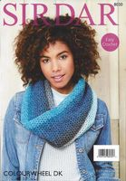 Sirdar Colourwheel DK - 8030 Snood & Shawl Crochet Pattern